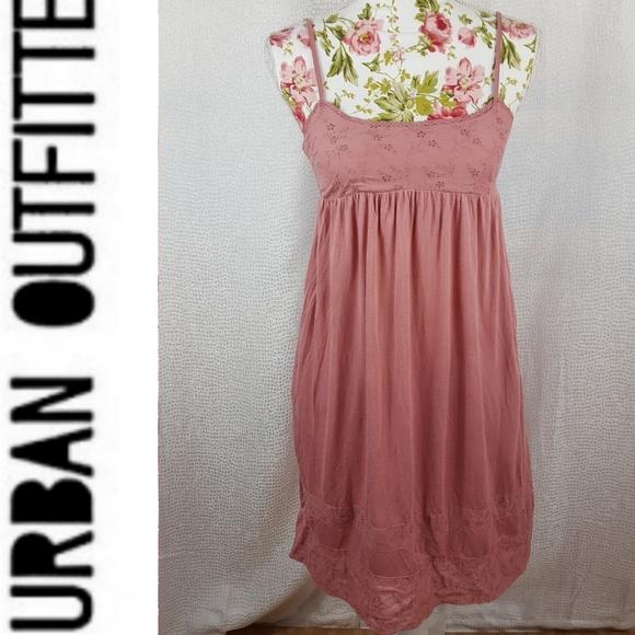 ab70311e41e Kimchi Blue Dresses   Skirts - KIMCHI   BLUE Dusty Pink Eyelet Baby Doll  Dress